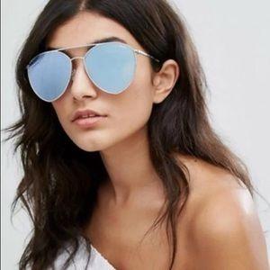 Quay Indio Mirrored Aviator Sunglasses